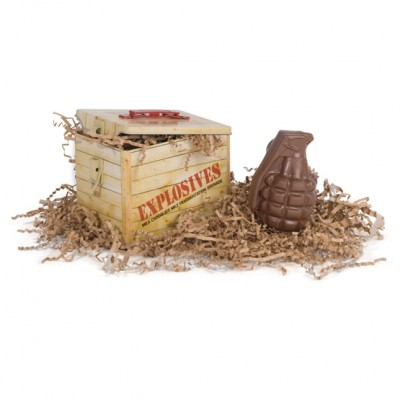 Chocolate Hand Grenade with Tin