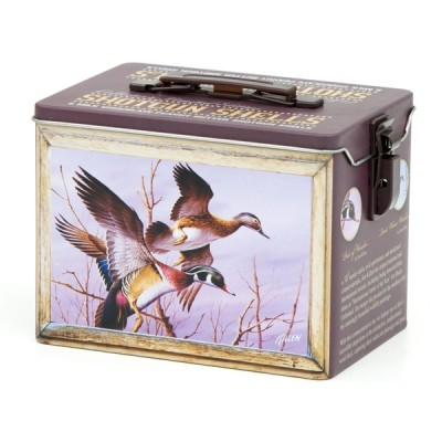 Empty Wood Duck Collector Tin