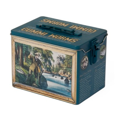 Vintage Fishing Collector Tin